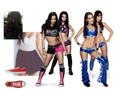 """Ringside for Aj Lee w/ Paige vs Brie Bella w/ Nikki Bella."" by jamiehemmings19 ❤ liked on Polyvore featuring WWE and Converse"