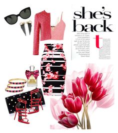 """""""She's Back with a Pink Edge"""" by ranelle1215 ❤ liked on Polyvore featuring Thalia Sodi, maurices, Alexander McQueen, Giuseppe Zanotti, Ettika, Moschino, Rachel Entwistle, Oliver Peoples, Fornash and Juicy Couture"""
