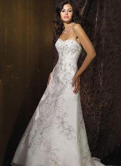 wedding dresses princess wedding dresses wedding dresses with straps sweetheart a-line/princess sweetheart chapel bridal gown