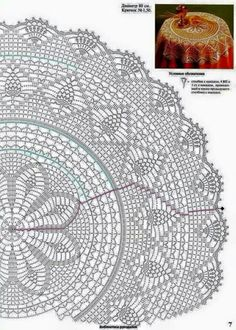 Crochet Patterns Vintage easy to read instructions for a large blanket A large round table cloth with a small pineapple Kira scheme crochet: Scheme crochet no. Crochet and arts: crochet Tablecloth View album on Yandex. This Pin was discovered by Don Filet Crochet, Mandala Au Crochet, Crochet Doily Diagram, Crochet Circles, Crochet Doily Patterns, Crochet Round, Crochet Chart, Crochet Home, Thread Crochet