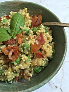 Quinoa Risotto with Bacon and Peas from Everyday Gluten Free.