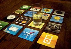 あなたのテーブルが「iPhone」に?!ユニークなデザインのコースター【iPhone Coaster Set】