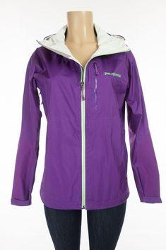 PATAGONIA Torrentshell Jacket M Purple Nylon H2NO Waterproof Packable Rain Coat #Patagonia #Raincoat #Outdoor