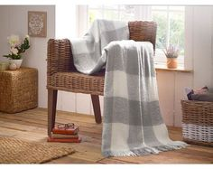 Buy the Plaid Design Throw From K Life. Your online shop for K-LifeSoftFurnishing Winter Is Comming, Plaid Design, Winter Warmers, Soft Furnishings, Home And Living, Grey And White, Blanket, Luxury, Bedroom