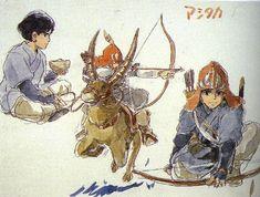 Prince Ashitaka from Princess Mononoke.