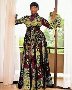 The complete pictures of latest ankara long gown styles of 2018 you've been searching for. These long ankara gown styles of 2018 are beautiful Long African Dresses, Ankara Long Gown Styles, Latest African Fashion Dresses, African Print Dresses, Latest Fashion, African Inspired Fashion, African Print Fashion, Africa Fashion, Ankara Designs