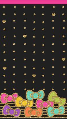 Bow Wallpaper, Wallpaper 2016, Computer Wallpaper, Colorful Wallpaper, Mobile Wallpaper, Hello Kitty Backgrounds, Hello Kitty Wallpaper, Cute Wallpapers, Iphone Wallpapers