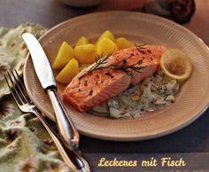 Rezept Lachs mit Kartoffeln und Schmandgurken (Finessen 6/2014) von quippu - Rezept der Kategorie Hauptgerichte mit Fisch & Meeresfrüchten