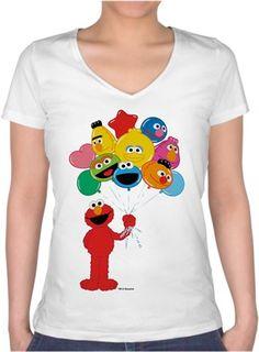 Balonlu Elmo Kendin Tasarla - Bayan V Yaka Tişört