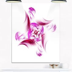 Rotation of Small Universe Flower - Floral Glossy Metal Wall Art