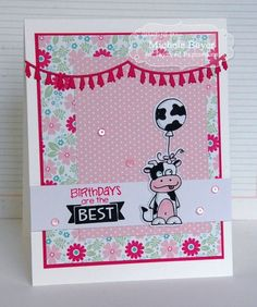 Birthdays are the Best Card by Michele Boyer #Cardmaking, #TEMatched, #Critters, #Birthday, #TE, #ShareJoy