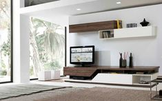 Modern TV Wall Design Ideas For Stunning Living Room Decoration Lcd Unit Design, Modern Tv Unit Designs, Living Room Tv Unit Designs, Modern Tv Wall Units, Tv Wall Design, Tv Unit For Living Room, Tv Unit For Bedroom, Tv Wall Unit Designs, Wall Units For Tv