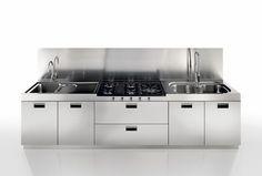 JN Aceros - Mueble de cocina de acero inoxidable.