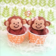 Loving Creations for You: Monkey Milo Chiffon Cupcakes Chinese New Year Cookies, Mug Cake Microwave, Polish Recipes, Polish Food, Chiffon Cake, Wedding Tattoos, Cute Cakes, Animal Quotes, Cake Creations