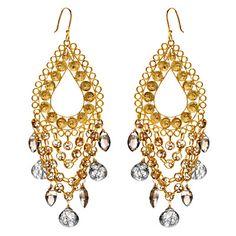 Wendy Mink Jewelry Filigree Teardrop Earrings