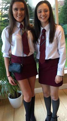 Found on Bing from www.flickr.com School Uniform Outfits, Cute School Uniforms, Girls Uniforms, Cute Girl Dresses, Girl Outfits, Cute Outfits, Catholic School Uniforms, British School Uniform, Women Wearing Ties