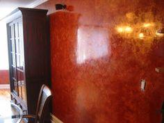 Stucco Veneziano Rosso Dorato.