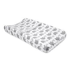 Beautiful details and neutral colors make the Hattie & Ellie Crib Bedding Collection a darling choice for your baby boy or girl. The Changing Pad Cover is super soft and features a sweet allover mama and baby elephant print.