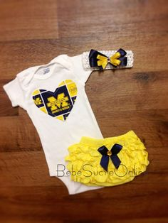Hey, I found this really awesome Etsy listing at https://www.etsy.com/listing/181398645/university-of-michigan-outfit-and