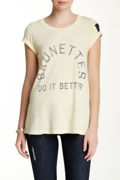 Brunettes Do It Graphic Tee by Rebel Yell on @HauteLook