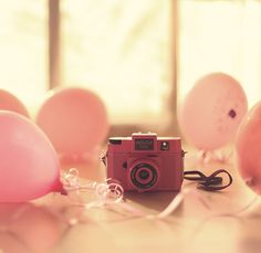 balloons and a camera...The 2 things that remind me of my MOM