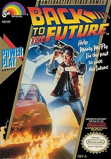 Back to the Future (LJN), NES - 1989 game released by LJN Toys for the Nintendo Entertainment System. The game is loosely based on the 1985 film of the same name. LJN was also responsible for the  sequels Back to the Future Part II & III. In the single mode game, the player controls Marty McFly through various stages set in 1955. Unlike the movie, the game adaptation of Back to the Future was almost universally panned.