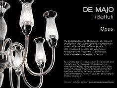 "Opus draws inspiration from a quite unique technique called ""battitura"".  #Opus #deMajo #battitura #chandelier #glass #MuranoGlass"