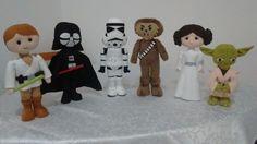 Minha versão em feltro dos personagens do Star Wars