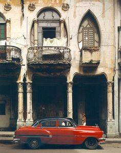 Havana, Cuba.....beautiful Art Nouveau even if it's weathered and unattended.