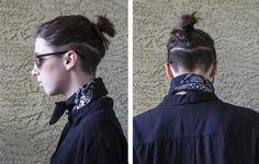 Badass in Black - Kurzhaarfrisuren/Undercut - Cheveux Undercut Hairstyles Women, Undercut Long Hair, Tomboy Hairstyles, Trendy Hairstyles, Undercut Pixie, Pixie Haircuts, Pixie Hairstyles, Undercut Women, Man Bun Haircut