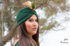 Amaya tocados blog: Turbante verde esmeralda