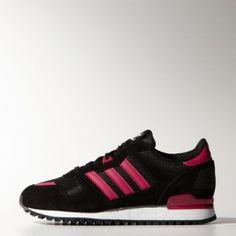 Achat Baskets Adidas Originals ZX 700 pour Femme Base Buzz Noir/Rose Soldes Pas Cher