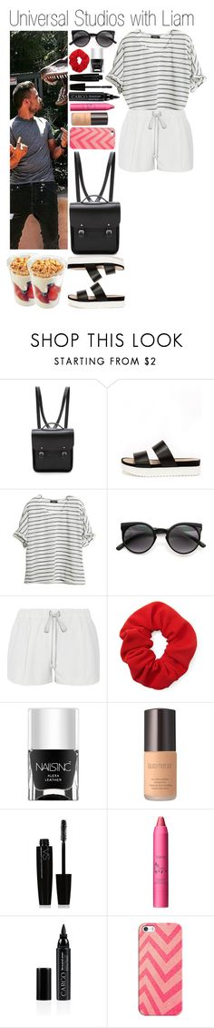 """""""• Universal Studios with Liam"""" by didi-horan ❤ liked on Polyvore featuring The Cambridge Satchel Company, Wanted, Elizabeth and James, Forever 21, Nails Inc., Laura Mercier, Victoria's Secret, tarte, CARGO and Casetify"""
