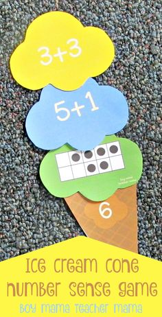Boy Mama Teacher Mama Ice Cream Number Sense Game (featured)