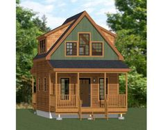 Cabin Plans With Loft, Small Cabin Plans, Cabin House Plans, Tiny House Cabin, Tiny House Design, Small House Plans, House Floor Plans, House 2, Small Cabins