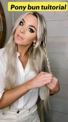 Hairdo For Long Hair, Easy Hairstyles For Long Hair, Protective Hairstyles, Straight Hairstyles For Long Hair, Long Blonde Hairstyles, Easy Braided Hairstyles, Long Hair Dos, Cute Quick Hairstyles, Hair Updo