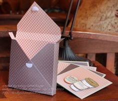 Envelope Punch Board Card Box-open with Kelly Gettelfinger