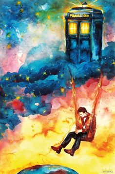 Watercolour Doctor Who