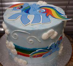 Rainbow Dash - My Little Pony Cake See More:  instagram.com/enchantingcreations/  facebook.com/EnchantingCreationsMiami