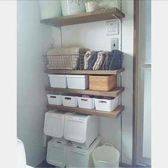 可動棚/ダイソー/カインズホーム/IKEA/無印良品/洗面所収納…などのインテリア実例 - 2017-08-08 09:24:09 | RoomClip(ルームクリップ) Furniture, Room, House, Interior, Home, Towel, Ikea, Bathroom, Towel Rack