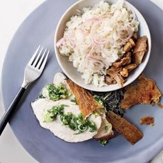 Turkey Breast with Ginger-Scallion Sauce | David Chang recommends poaching turkey breast in leftover turkey stock before serving it with ginger-scallion sauce, based on his favorite condiment at Great N.Y. Noodletown in Chinatown.