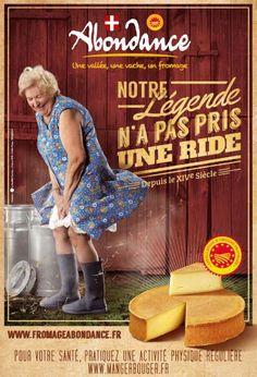 La nouvelle campagne de pub pour l'Abondance de Haute Savoie fait la part belle à une Marilyn Monroe version authentique et rurale !
