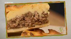 Ανοιχτή ΚΙΜΑΔΟΠΙΤΑ με πουρέ πατάτας | MEGA TV ΚΑΝ' ΤΟ ΟΠΩΣ Ο ΑΚΗΣ Greek Pastries, Filo Pastry, Cheese Pies, Cheesesteak, Beef, Cooking, Ethnic Recipes, Food, Pie