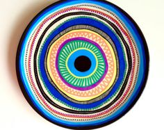 Unique Artwork that is hand-painted directly onto the plate.   Plates are ready to hang on the wall or for display only.  Plates are not dish wash safe, and they should be cleaned with a soft cloth to preserve the artwork  8.0 in porcelain side porcelain plate.  Check out my main shop and my website:  http:// www.etsy.com/shop/biancafreitas http:// www.biancafreitas.com