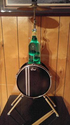 40 ounce bud ice bottle and a drum...who knew?? Lol