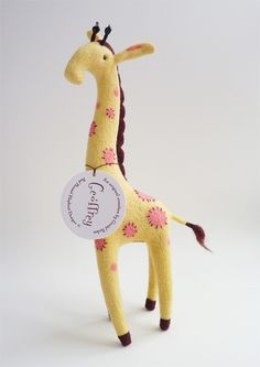 Needle-felted giraffe by Gretel Parker
