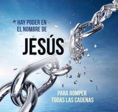 Hay poder en Jesús,  Revístete de Su Autoridad. Hay poder en Jesús para cadenas romper.  ¡Sé libre!