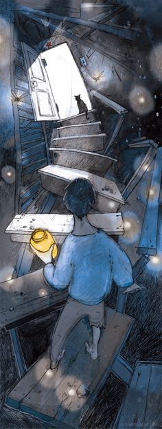 "ADRIEN DEGGAN | Illustration ""fireflies"""