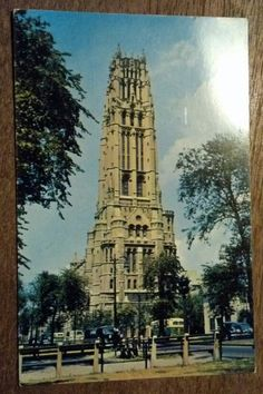 THE RIVERSIDE CHURCH, NEW YORK CITY old postcard