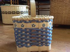 House Basket with painted flowers